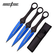 Electro Blue Throwing Knives