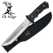 Elk Ridge Stainless Sawback Hunting Knife