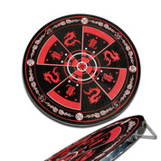 Red Throwing Knife Target Board