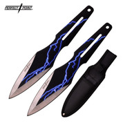 Blue Lightning Blade Throwing Knives