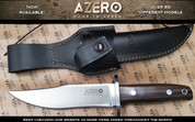 Azero Ebony Wood Hunting Knife, 295mm