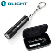 Black Olight i3E Keychain LED Torch in Gift Box