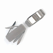 Fury Stainless Slim Money Clip - 4 Implements