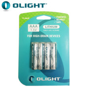 Pack of 4 Olight AAA Lithium 1.5V Batteries