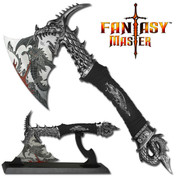 Fantasy Dragon Axe with Display Stand