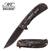 Master Collection Elk Sculpted Folding knife