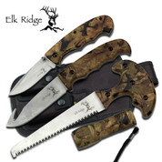 Elk Ridge Camo Hunting Knives Kit