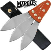 Marbles Leather Handle Throwing Knives