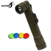 Olive Drab Military Angle Head Torch - AA