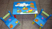 Kids Table and Chair set Boats