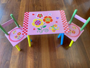 Kids Table and Chair set Pink Butterfly