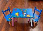Kids Table and Chair set Zoo