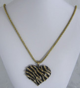 Gold and Black Heart Necklace