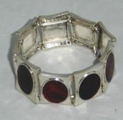 Red and Black Enamal Stretch Bracelet