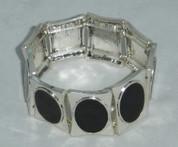 Black Enamal Stretch Bracelet
