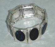 Blue Enamal Stretch Bracelet
