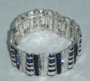 Blue Daimantie Stretch Bracelet