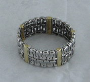Silver and Gold Stretch Braclet