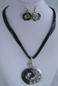 Black koru Necklace Set