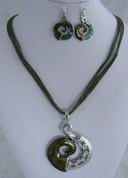 Green koru Necklace Set