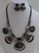 Black 5 drop Necklace Set