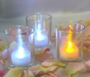 24 Led Light flickering Tea Lights Candles White