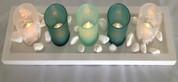 Tea light candle set and holders