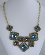 Blue and Gold Necklace