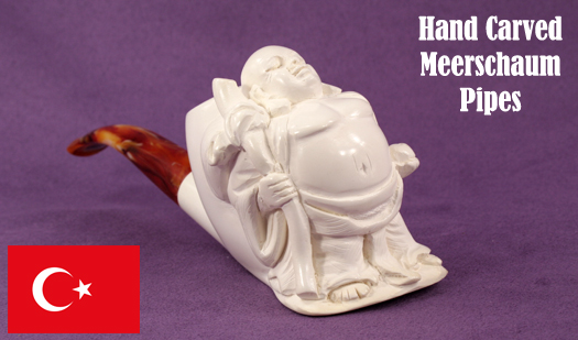 Hand carved (Turkish) Meerschaum Pipes