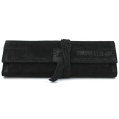 Ilmorello - Large Roll Over Pouch (Black Suede)