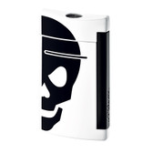 S.T. Dupont Minijet  White with Black Skull Lighter