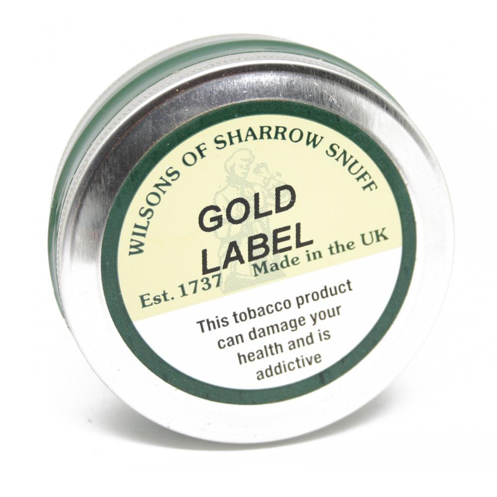 Wilsons of Sharrow Snuff - Gold Label - 25g - Large Tin