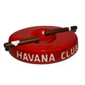 Havana Club Collection Red Cigar Ashtray El Socio Ceramic Ashtray Double