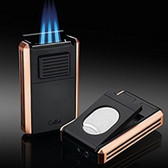 Colibri - Astoria III Rose Gold - Triple Jet Lighter