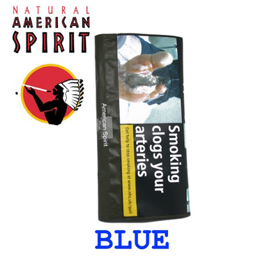 American Spirit Blue rolling tobacco, is a natural tobacco, with no stems, no preservatives or any additives, American Spirit is 100% whole tobacco leaf.