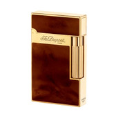 S.T. Dupont - Ligne 2 (Line 2) Lighter - Atelier Brown  & Gold
