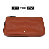 Alfred Dunhill - White Spot - Terracotta   1 Pipe Combination Pouch