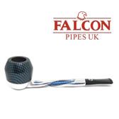 Falcon - Shillelagh (Polished/ Blue) with Carbon Fibre Blue Bulldog Bowl