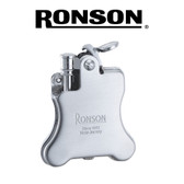 Ronson - Banjo (Satin Chrome)  - Soft Flame Petrol Lighter