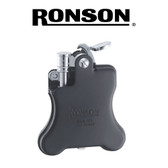 Ronson - Banjo (Matt Black)  - Soft Flame Petrol Lighter