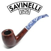 Savinelli - Oceano Smooth - 606 - Bent Billiard - 6mm Filter
