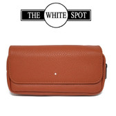 Alfred Dunhill - White Spot - Terracotta Leather Flap Companion - Combination Pouch (PA2021)