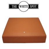 Alfred Dunhill - White Spot -  Travel Humidor - Terracotta  Leather - HS2010