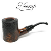 Neerup - Classic Series -  Gr 2 Bent Poker Pipe (Black Sandblast)