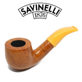 Savinelli - Mini Smooth Yellow Stem 601 - 6mm Filter