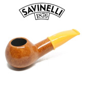 Savinelli - Mini Smooth Yellow Stem 321 - 6mm Filter