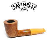 Savinelli - Mini Smooth Yellow Stem 409 - 6mm Filter