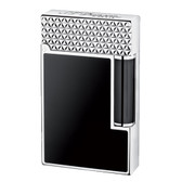 S.T. Dupont - Ligne 2 (Line 2) - Palladium Fire Head & Black Natural Lacquer Lighter