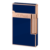 S.T. Dupont - Ligne 2 (Line 2) - Rose Gold Finish & Blue Natural Lacquer Lighter