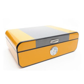 Savinelli - Yellow Lacquered  Humidor in Carbon Fibre - S61195L